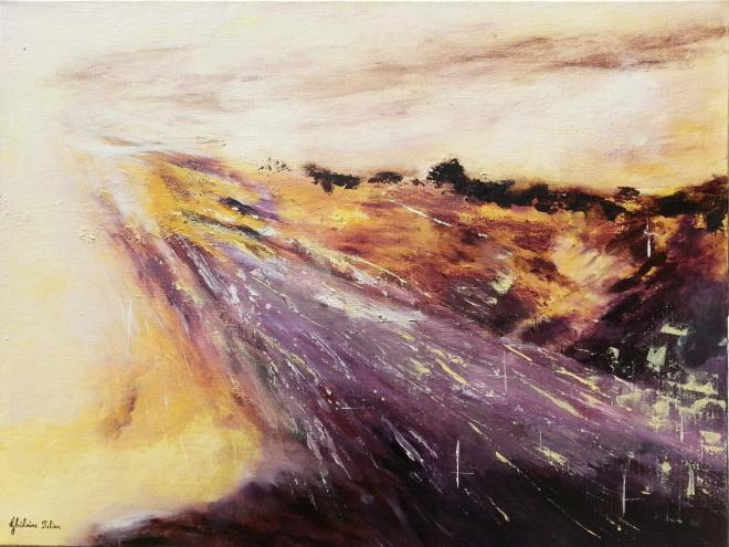 My way (sur le chemin de Compostelle) - acrylique 61x46 cm