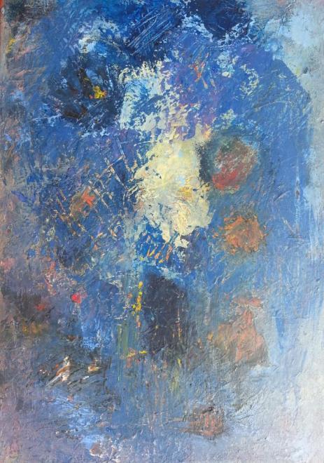 Bleu - acrylique 55x38 cm