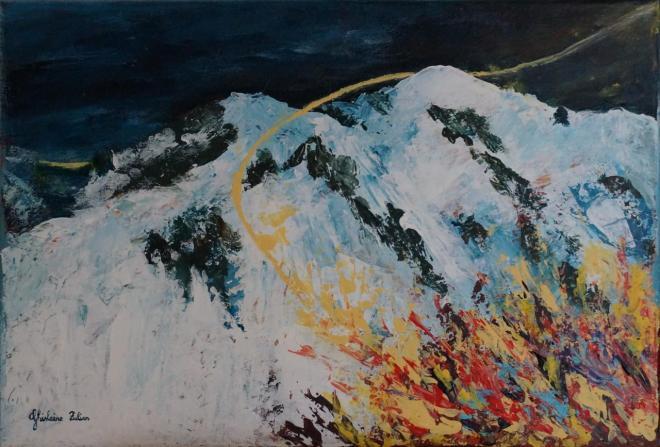 24 mars 1999 - acrylique 35x23,5 cm