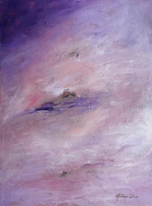 Dans la brume - acrylique 24x33 cm