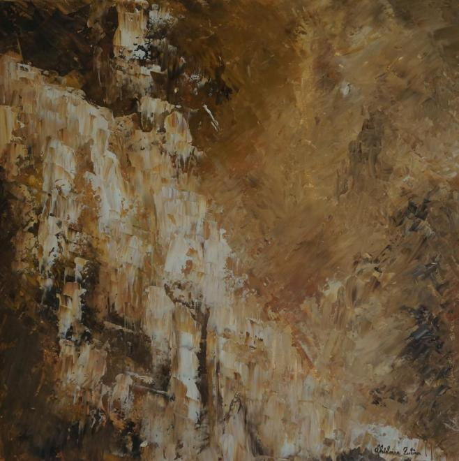 Chutes - huile 40x40 cm