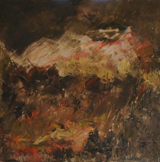 Crépuscule - huile 40x40 cm