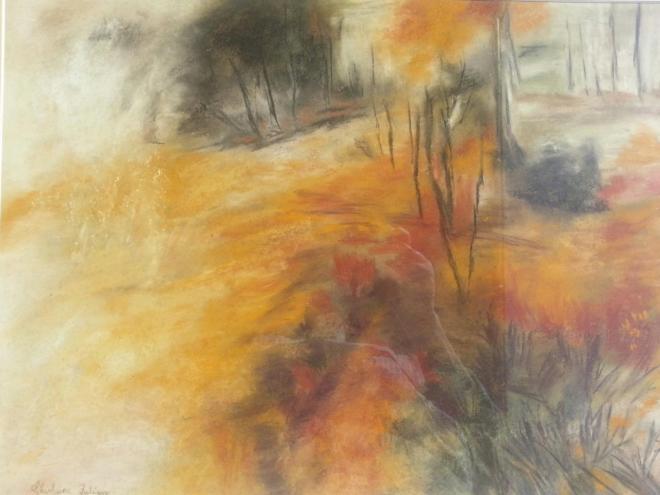 Forêt sauvage - pastel 70x58 cm