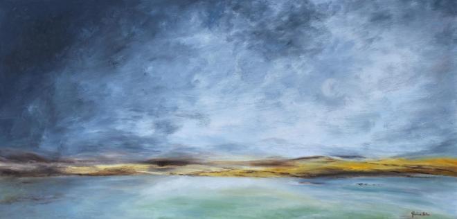 Horizon - huile 100x50 cm