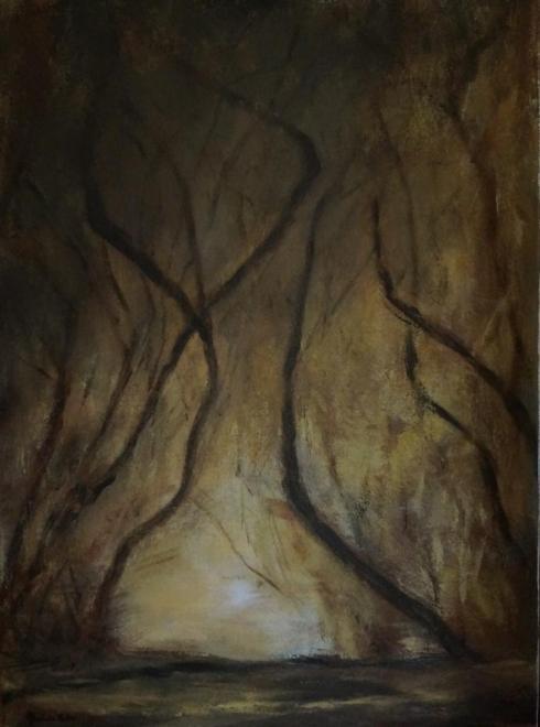 La forêt enchantée - acrylique 73x54 cm