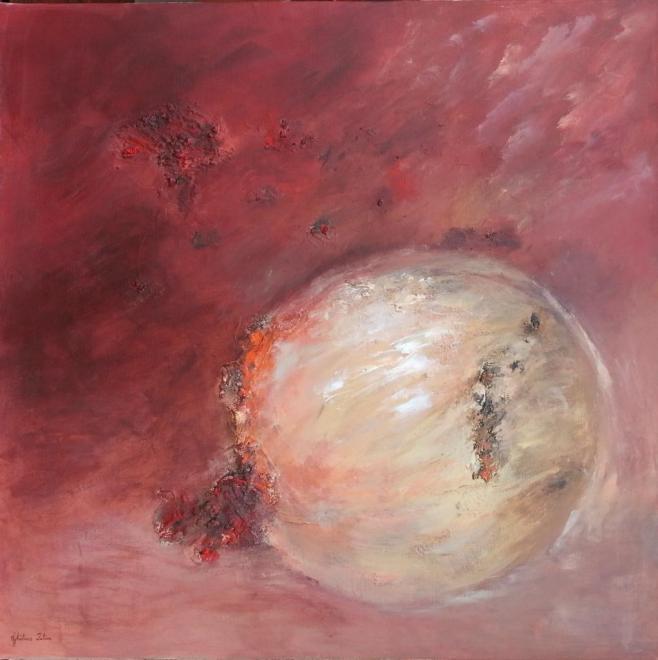 La planète rouge - mixte 80x80 cm