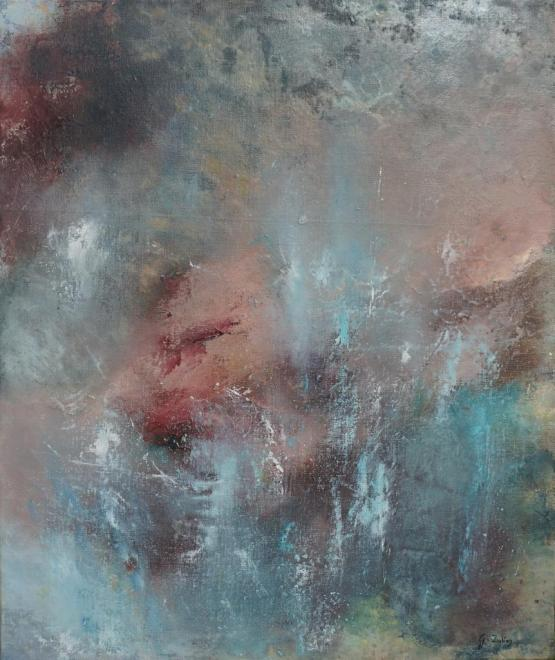 Nébuleuse - mixte 65x54 cm