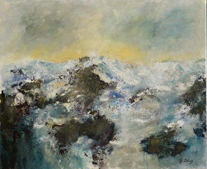 Over the ocean 3 - mixte 73x60