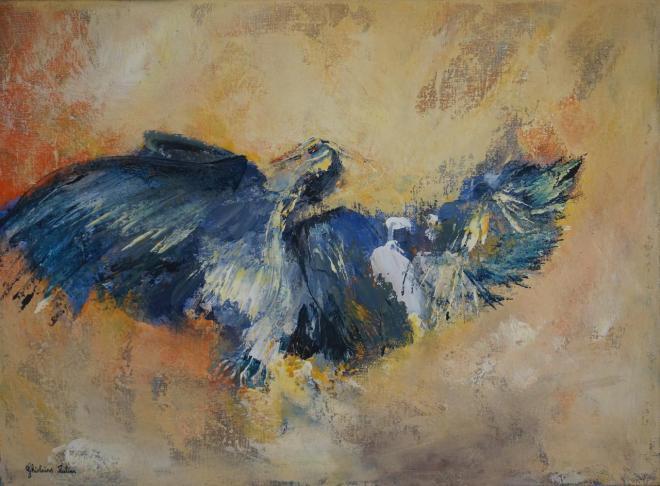 Phoenix - acrylique 54x73 cm