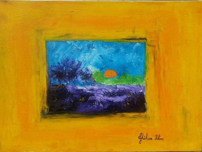 Réflexion - huile 46x33 cm