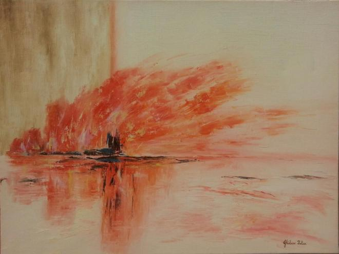 The Gulf's disaster - huile 61x46 cm